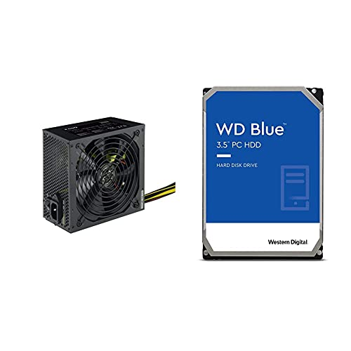 Tooq Tqep-650Sp - Fuente De Alimentación Ecopower II De 650W con PFC Pasivo + Western Digital WD Blue - Disco Duro para Ordenadores De Sobremesa De 1 TB Azul