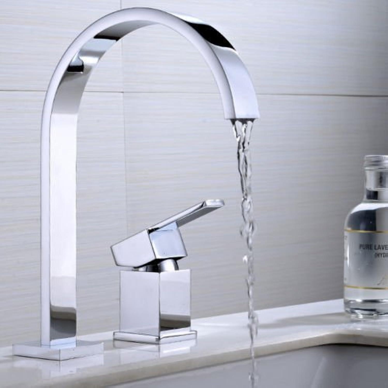 Bijjaladeva Antique Kitchen Sink Mixer Tap 2-Piece Big Bend Basin Kitchen Single-Double Hole hot and Cold Faucet