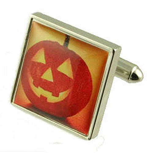 Manschettenknöpfe Manschettenknöpfe ~ Halloween Kürbis ~ spooky Manschettenknöpfe wählen Sie Geschenk Tasche