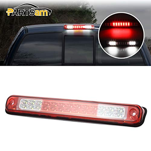 Partsam High Mount Led 3rd Brake Light Red Replacement for Silverado and Sierra 1994-1999 C/K 1500 2500 3500 Rear Top Roof Cab Center Mount Third Brake Light Stop Tail Cargo Light Lamps