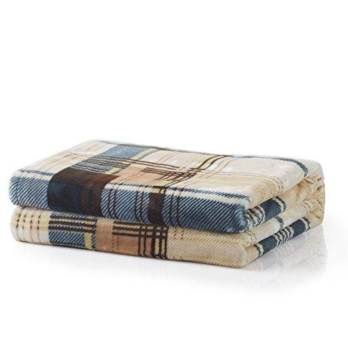 Tache Home Fashion Winter Cabin Lightweight Tartan Plaid Super Soft Warm Throw Blanket
