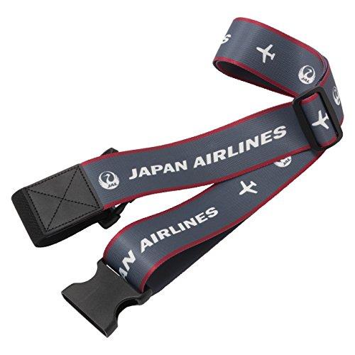 JAL 日本航空 スーツケースベルト (グレー)