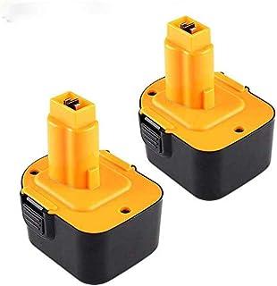 2 Pack 3.0Ah Ni-MH vervanging voor Dewalt 12V Accu DC9071 DE9075 DE9071 DE9074 DW9071 DW9072 DE9501 DE9072 DE9072 Draadloo...