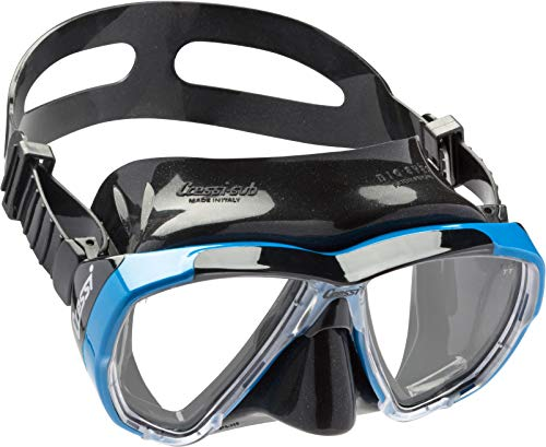 Cressi Taucherbrille Tauchermaske Big Eyes (Made in Italy) Blau Black/Azure