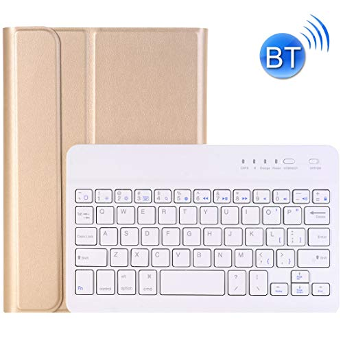 Bluetooth Keyboard For iPad Mini 4 Ultra-thin ABS Bluetooth Keyboard Horizontal Flip Leather Case with Holder LiMinHua (Color : Gold)