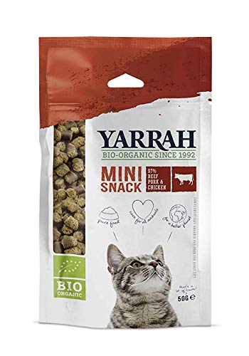 Yarrah Bio Mini Snack für Katzen, 1er Pack (1 x 50 g)