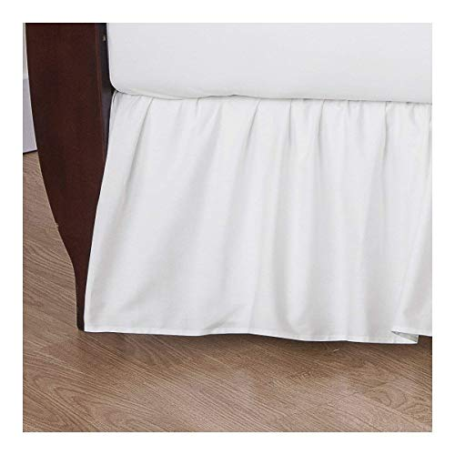American Baby Company 100% Natural Cotton Percale Ruffled Crib Skirt, White, Soft Breathable, for Boys and Girls