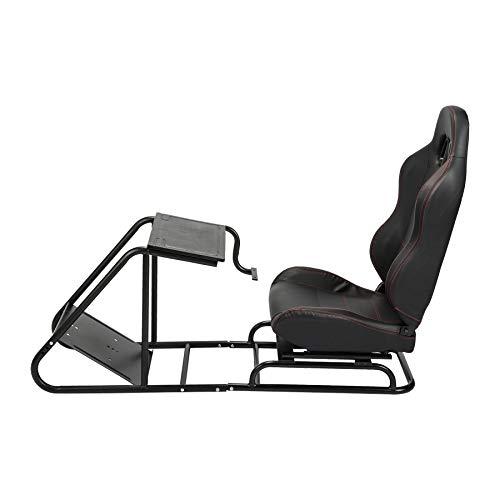 Z ZELUS Sedile da Corsa Bucket Simulatore di Cabina di Guida Sedile da Corsa Regolabile con Pedale di Montaggio del Cambio per Video Gioco PS4 PS3 Xbox One Xbox 360 Logitech Thrustmaster