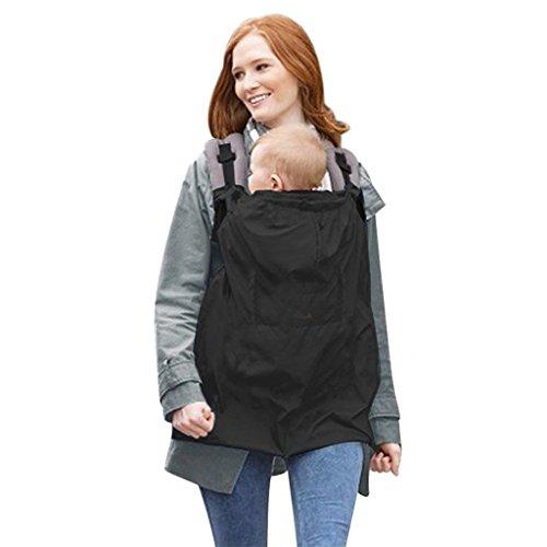 Vine Babyträger mit Taschen Universal-Fit For All Seasons Windundurchlässig Wasserdicht Rucksack-Riemen-Baby-Träger Baby Wrap Tragehilfe Regenschutz