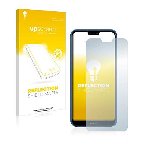 upscreen Entspiegelungs-Schutzfolie kompatibel mit Huawei P20 lite 2018 – Anti-Reflex Bildschirmschutz-Folie Matt