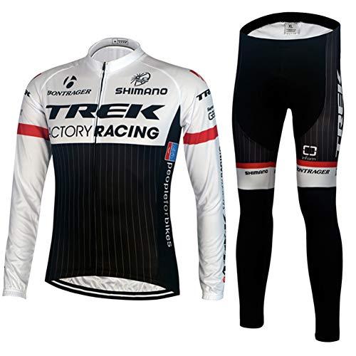 PGone Racing Classic Bicycle Sportswear Trek Pro - Bicicleta de Carretera al Aire Libre Anti-UV MTB Ciclismo Trajes de Ciclismo para Mujeres de Manga Larga (Size : X-Large)