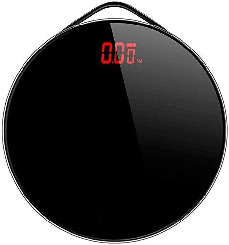 Onbekend Thin zwart glas met een digitale badkamer weegschaal en de precisie High Precision resultaten, verlicht display, 0,2 kg180 kg.