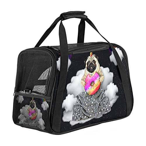 MEITD Pets – Trasportino per animali domestici, gatto e cane – Borsa in tessuto a rete leggera di alta qualità, portatile, pieghevole, con unicorno per cani e compagnia aerea approvato