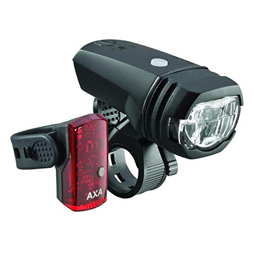AXA Unisex– Erwachsene Greenline 50 Set Beleuchtungsset, schwarz, one Size