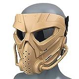 Wwman cara completa paintball airsoft máscara, CS Cosplay máscara facial táctica resistente al desgaste con gafas antivaho, para adultos y jóvenes Halloween (WWZL3-OD-Y)