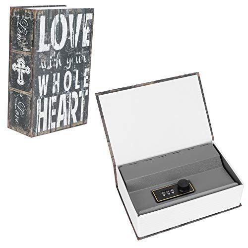 Caja de efectivo con mini libro de diccionario analógico, pequeña caja fuerte con contraseña, para guardar monedas, tarjetas bancarias, tarjetas de identificación, certificados, joyas y otros artículo
