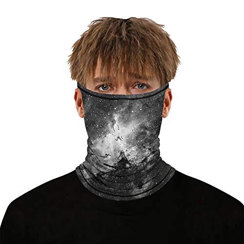 Ear Loop Face Mask Bandana Dust UV Sun Protection Neck Gaiter Scarf Balaclava for Women Men Lightweight Breathable Sunscreen Face Cover Magic Moisture Wicking Headwear Headband(Grey Sky)