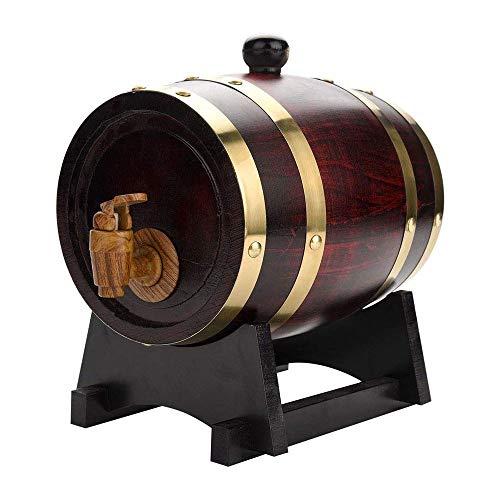 HEMFV Barril de Roble Premium 1,5 L/L 5 Almacenamiento Barril Incorporado en Papel de Aluminio Liner Inicio Barril del Whisky Dispensador for vinos, licores, Cerveza y el Licor!Posee la totalidad de