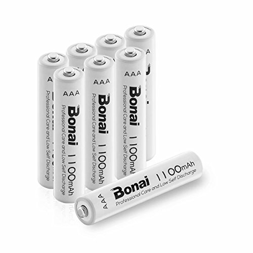 BONAI 8 Bay Rechargeable Battery Charger for AA AAA Ni-MH Ni-CD Rechargeable Batteries with 8 LEDs