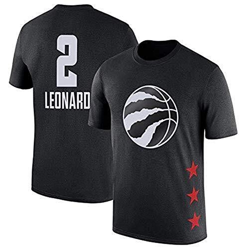 CZLSD Maglia Sportiva NBA MVP Toronto Raptors Kawhi Leonard Lettere Casual T-Shirt Manica Corta Sport Maglia (Color : Black#2, Size : XXXL)