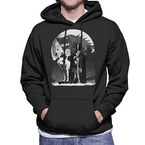 King In The North Jon Snow Wolf Game of Thrones Men's Hooded Sweatshirt