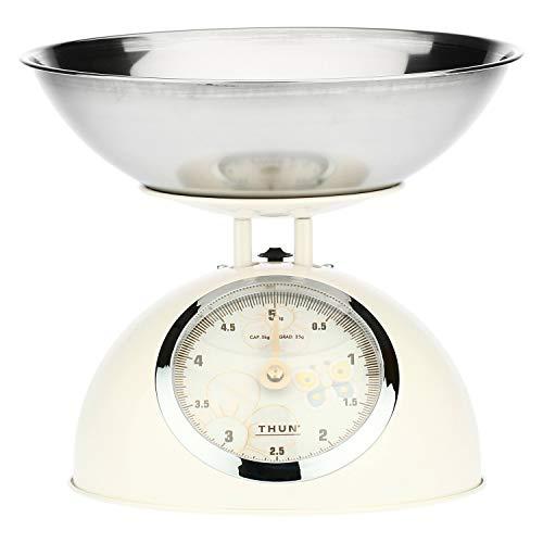 THUN - Bilancia da Cucina - Accessori Cucina - Linea Elegance - Acciaio Inossidabile e Ferro - Base 15 h cm
