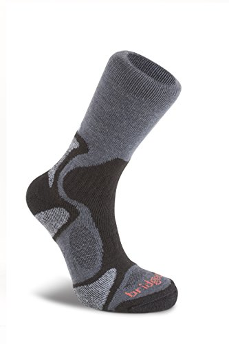Bridgedale Herren Hike Lightweight Merino Comfort Socken, Schwarz (gunmetal/black), M