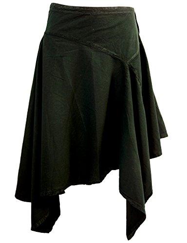 GURU SHOP Zipfelrock, Pixirock, Damen, Schwarz, Baumwolle, Size:L (40), Röcke/Kurz Alternative Bekleidung