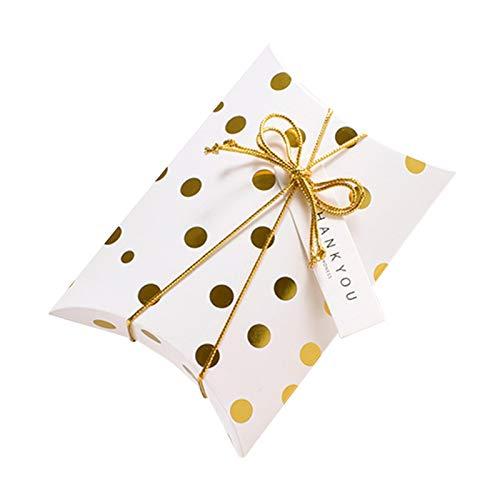lijun 5 unids/Set Caja de Dulces con Forma de Almohada con Etiquetas de Agradecimiento Bolsas de Regalo de Embalaje decoración de Boda Accesorios de Navidad