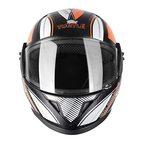 Turtle Smart Full Face Helmet Moterbike Helmet Plain Visor Helment Scratch Resistant Helmet...