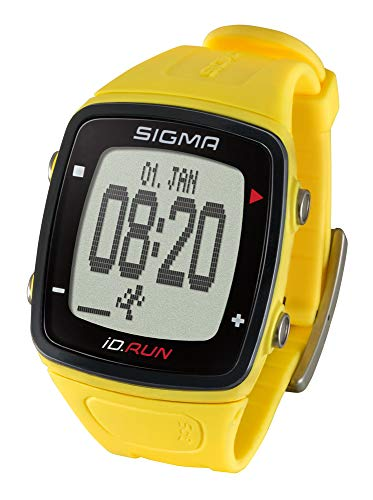 SIGMA SPORT Uni Id.Run GPS Laufuhr, Yellow, One Size