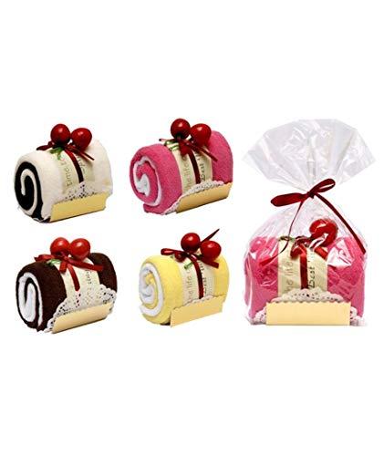 Vasara Toalla con Bolsita Forma Tronco Pastel Cupcake- Detalles Originales para Invitados de Bodas, Regalos Comuniones y Cumpleaños Infantiles