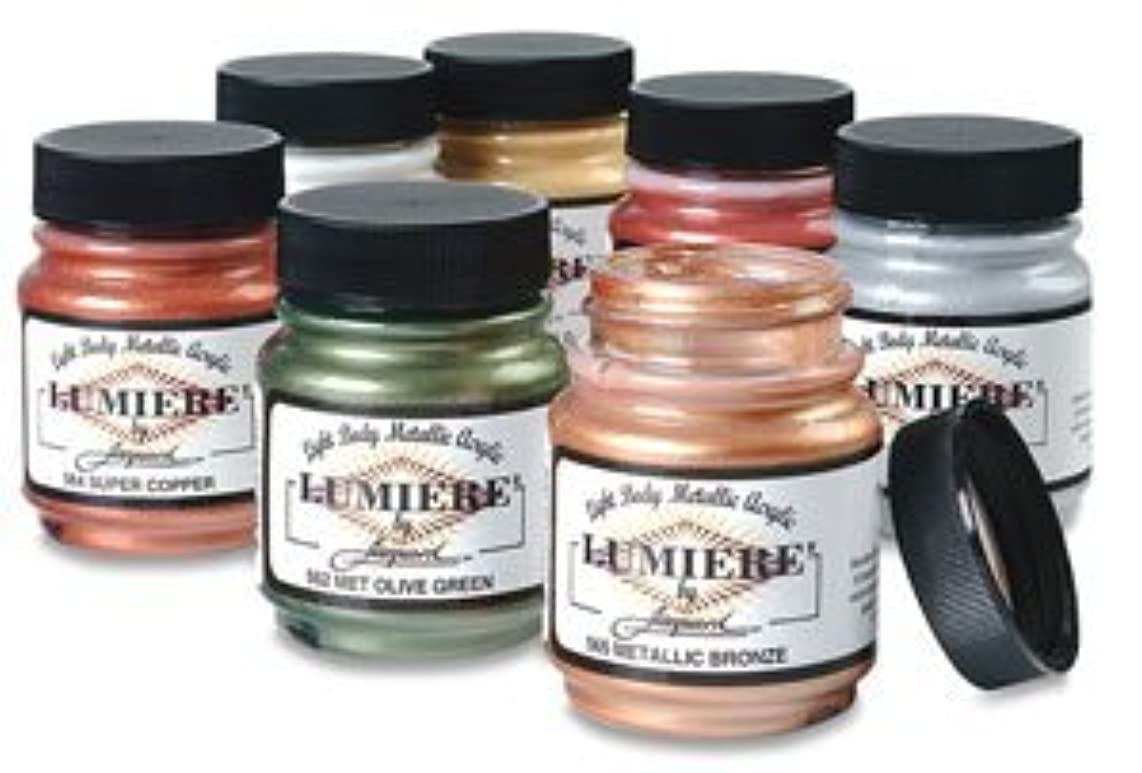 Jacquard Lumiere Fabric Color 8 oz Jar - Metallic Russet