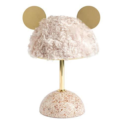 SHUTING2020 lámpara de Mesa Lámpara Creativa de Mesa de Dibujos Animados, Estilo Nuevo, Sala de Estar del Dormitorio, Habitación Infantil, Lámpara Decorativa de cabecera Lámpara Noche (Color : Pink)