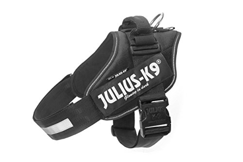 Julius-K9 IDC Powerharness for Dogs with Two Free Custom Patches, Black Size 2