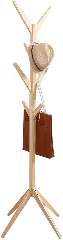 Angel's Home Simple Creative Coat Rack Tree Shape Solid Wood Hanger Floor Fashion Clothes Rack Living Room Bedroom Floor Hanger