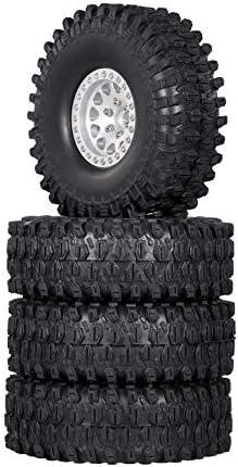 Bobin 4PCS Ranking TOP5 Metal 1.9 Beadlock Wheel Rim Cr 10 1 Set for RC Sacramento Mall Tires