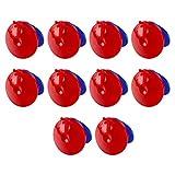 jojofuny 10 Piezas Niños Castanets Clapper Juguete de Plástico Castanets Clapper Noisemakers Instrumento de Percusión Juguete Musical Educativo Niños Fiesta Favores
