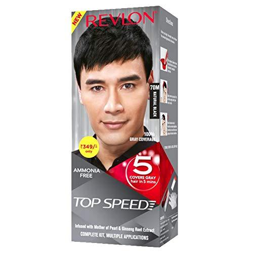 REVLON Top Speed Hair Color (Natural Black 70M, 100G)
