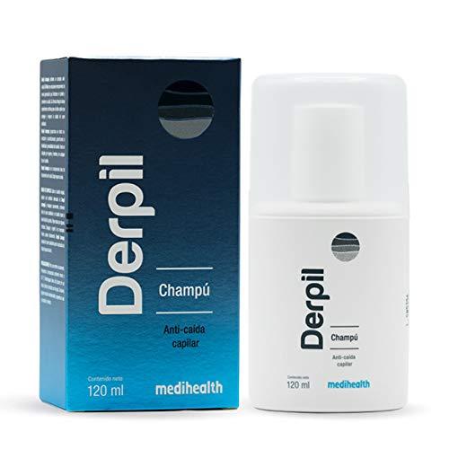 Derpil Champú Anti-Caída Capilar con Extractos Naturales, frasco con 120ml