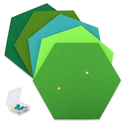 SEG Direct Sechseck Grün Serie 5-teiliges Set mit Stecknadeln 26 x 30 x 1 cm