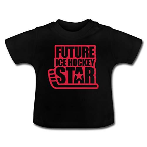 Eishockey Future Ice Hockey Star Baby T-Shirt, 12-18 Monate, Schwarz