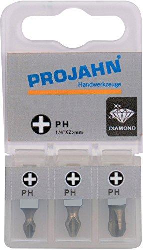 Projahn 1750001–03 1/4 Tige en Embouts Phillips n ° 1 Longueur 25 mm (Lot de 3)
