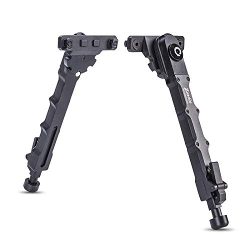 Zeadio Tactical Bipod, 7.5 to 9 Inches - Black