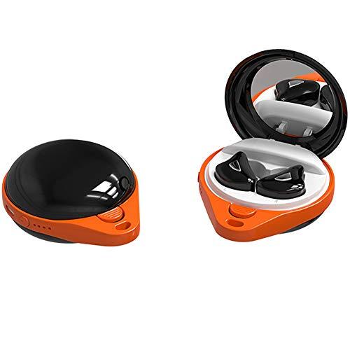 Lessjie Mini Auriculares Impermeables De Deportes En El Oído Lindo Inalámbrico HiFi Calidad De Sonido Auriculares Toque Bluetooth 5.0 Reducción De Ruido De Llamada De Alta Definición,Negro