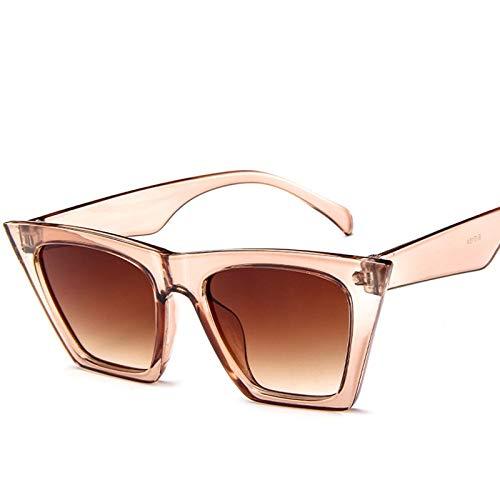 2 PCS Retro Gafas de Sol Gafas de Sol Mujeres Gafas Chic Big Frame Glasses Gafas de Sol Mujeres 881 (Lenses Color : E)
