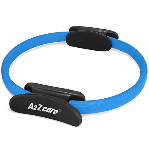 A2ZCARE Pilates Ring Magic Circle, Gym, Aerobics, Pilates, Yoga for Toning and Strengthening Thighs, Abs and Legs (12-inch Dia. Or 14-inch Dia) for More Power Resistance (Blue - 12')