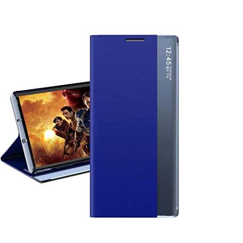 Coque Funda para Xiaomi Redmi 10 Funda con Tapa/Soporte de Vista Lateral Funda Protectora de Silicona Suave Ultrafina para Xiaomi Redmi 10 -Azul