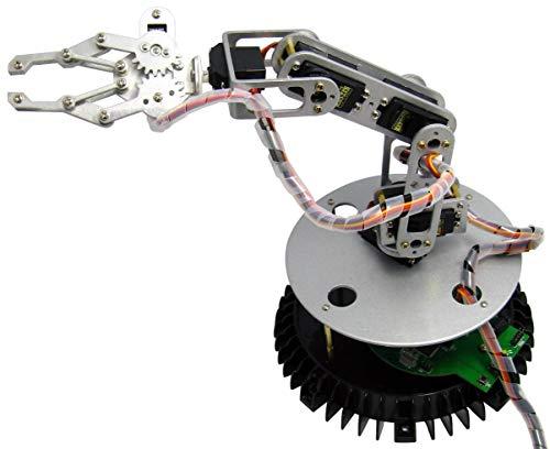 Arexx RA1-PRO - Set di Bracci Robot in Metallo, Colore Argento