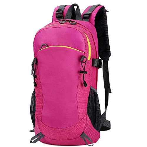 Cfilet Mochila al Aire Libre, Oxford Mochila de Lona, al Aire Libre Entrenamiento físico, Carrera Peso de la Bolsa, Unisex Mochila pequeña (Color : Pink)